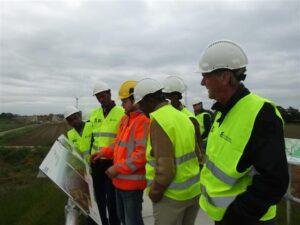 Bezoek aan de dijk bij Zutphen voor het project ruimte voor de rivier.