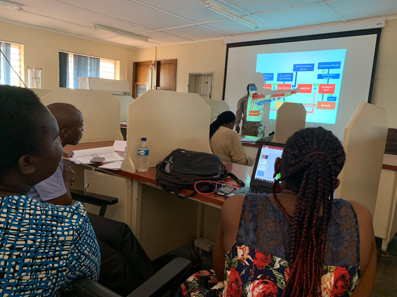 Picture groupwork presentation and discussion on value chain analysis